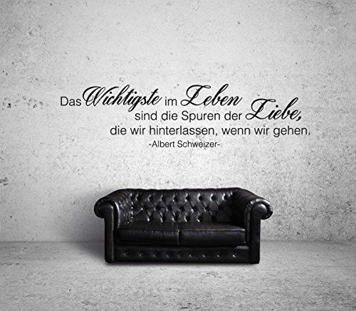 Albert Schweizer Das Wichtigste Wandtattoo Black Certified Freak