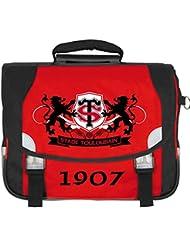 Cartable scolaire à roulettes TOULOUSE - Collection officielle STADE TOULOUSAIN - Rugby Top 14