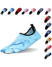Laiwodun zapatos de niño Zapatos de agua de natación Niños Zapatos de niños  descalzo Aqua calcetines para la piscina de playa Surf Yoga… 159e4758e20