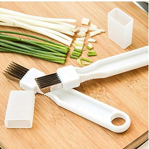 PiniceCore Neue Zwiebelschneider Scallion Messer Shred, Gemüse, Obst Werkzeuge Zwiebel Cutter Slicer Peeler Chopper Shredder Küchenhelfer-Werkzeug