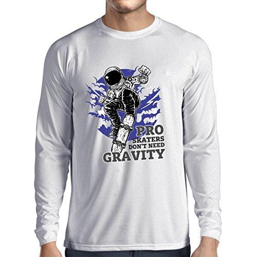 rts Pro Skaters Don't need Gravity - Skateboard Sprüche, Skate Leben Zitate (XXX-Large Weiß Mehrfarben) (Beste Halloween-zitate Und Sprüche)