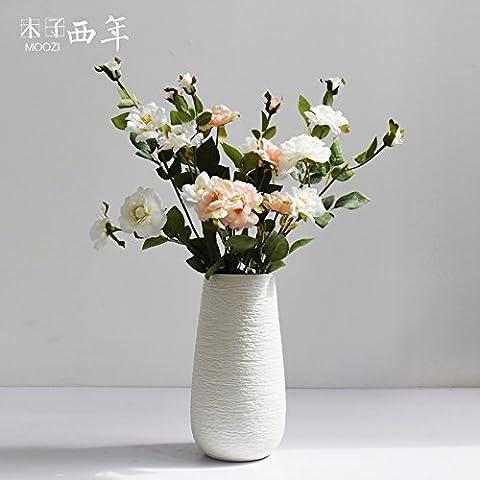 Beata. F einfach weiß Modern Creative Art Tisch Wohnzimmer Keramik Vasen Dekoration Ornament.