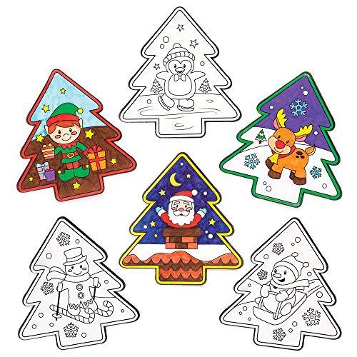 Baker Ross Adornos con Motivos navideños para Colorear y Colocar en la...