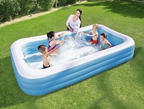 Bestway famiglie schwimmbecke rectangular Deluxe, 262 x 175 x 51 cm