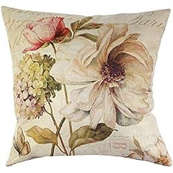 Fundas de Cojines Decorativos Diseño Flores Decoración para Cama Sofa Coche Sillas (Sin Rellenos)
