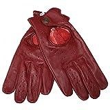 German Wear Driving Autofahrer-Handschuhe Lederhandschuhe, Größe:7=S, Farbe:Weinrot