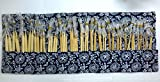 DeliaWinterfel Set da 16 Paia/32 Pezzi di Ferri da Maglia in bambù da 40cm per Maglieria Circolare (ago 2mm-12mm) con Custodia- Lavori di Uncinetto by