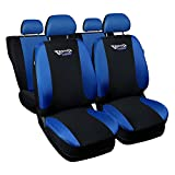 gsmarkt | Universal Blau Sitzbezüge Komplettset Sitzbezug für Auto Sitzschoner Set Schonbezüge Autositz Autositzbezüge Sitzauflagen Sitzschutz Tuning