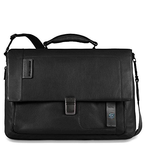 Piquadro CA3111P15Messenger-Tasche, Linie Pulse, schwarz (schwarz) - CA3111P15/N