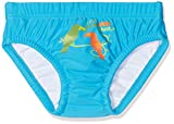 DIMO-TEX Sun Baby-Jungen Schwimmwindel Windelbadehose UV-Schutz 50, Mehrfarbig (Türkis), 80 (Herstellergröße: 74/80)