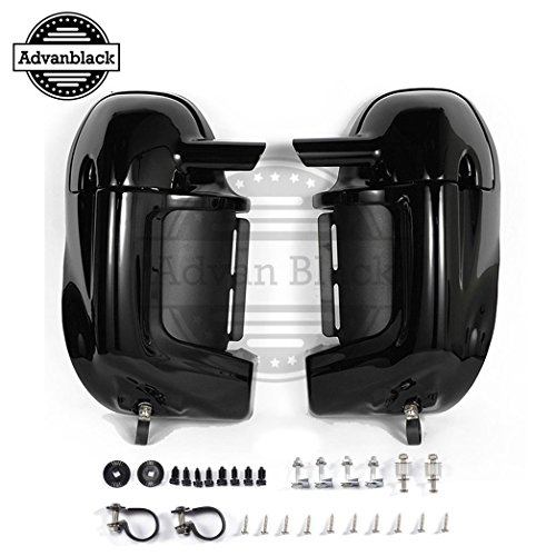 Advanblack auf Lager! Vivid/Glossy Black pre-Rushmore Lower lüfteten Bein Kits beinlinge Body Kits Glove Box für Harley Touring Road King flhr 1983-2016 - Pre-painted Kit
