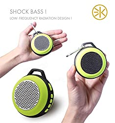 3keys Ultra Portable Clear Sound Wireless Bluetooth Speaker for Booming Indoor/Outdoor Use Compatible with Android, iPhone, MP3, MP4, iPads, Windows Tablets