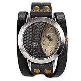 LANCARDO Herren Damen Armbanduhr Analog mit Leder Armband