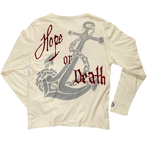"DYSTROY ""Skull & Bones"" PREMIUM Longsleeve ""TREASURE ISLAND"" / Regular Fit - Rundhals Shirt Dirty White"
