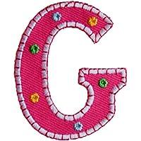 G 9cm rosa Nascita Compleanno Motivi Patch Ricamato per ripararecuscinocuscino