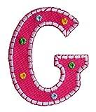 G 5cm hoch rosa BuchstabeAufbügler Patch Buchstabe Stoff