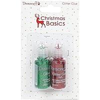 Dovecraft Natale Basics colle, Glitter, colore: rosso/verde