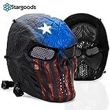 Stargoods Máscara de Protección para Airsoft, Máscara Táctica con Malla de Metal, Ideal para...