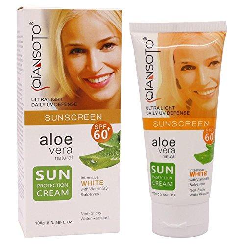 Beauty Hautpflege Der umweltfreundliche Sonnenschutz Allergy Sensitive Skin Sun Lotion LSF60 Feuchtigkeitsspendende Allergiker Gegen Hautirritationen Wasserfeste Haut 100g (Weiß)
