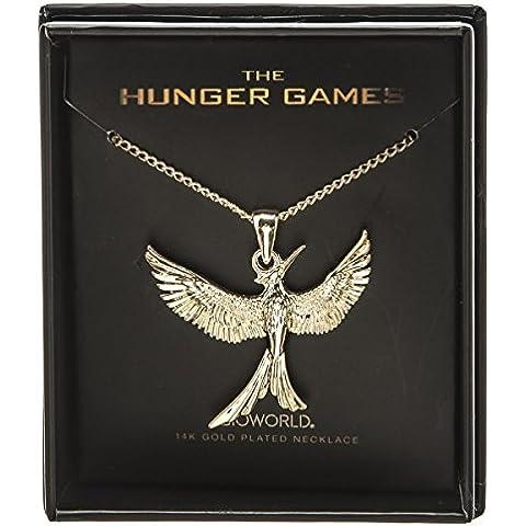 Hunger Games Il canto della rivolta-Collana placcato oro 14 k, con scatola fj3fsithg nuovo
