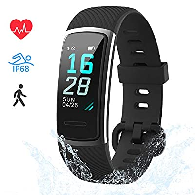LIFEBEE Fitness Tracker, Fitness Watch Activity Trackers with Heart Rate/Sleep Monitor, IP68 Waterproof Color Screen Smart Bracelet with Calorie Step Counter Smart Watches Men Women for iOS Android by LIFEBEE