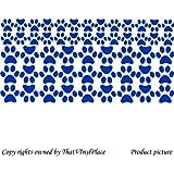 53 de huellas de perro y gato juego de pegatinas 27 x (6,4 cm) y 26 (4,4 cm) color azul de mariquita adhesivo decorativo para pared, infantil, niños juego de pegatinas decorativas, vinilo de coche, Windows y adhesivo decorativo para pared, de pared Windows Art, adhesivo, diseño de vinilo adhesivo ThatVinylPlace