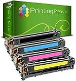 Printing Pleasure 4 Toner Compatibili per HP LaserJet Pro Color MFP M476 dn / M476 dw / M476 nw / CF380X / CF381A / CF383A / CF382A / 312X / 312A