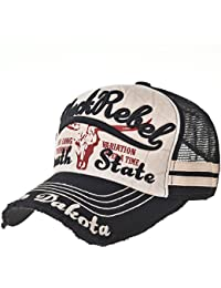 WITHMOONS Gorras de Béisbol Gorra de Trucker Sombrero de Baseball Cap Vintage Meshed Distressed Trucker Hat KR1961 KnvhA7MLBa
