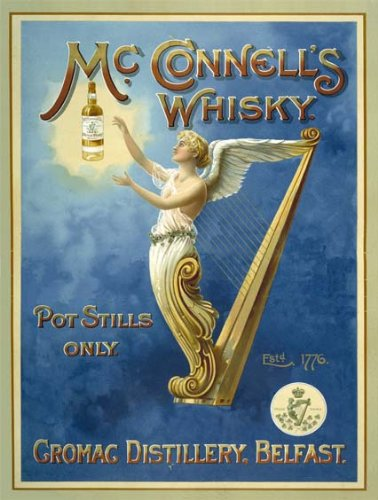 Original metals signs - Mc Connell's Whisky - 15x20cm
