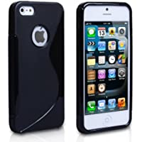 TPU CASE für Apple iPhone 5 / 5S S-Line Design Schwarz