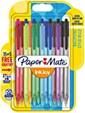 Papermate InkJoy 100 RT 1.0 mm Medium Tip Retractable Ball Pen - Assorted Fun Colours (Pack of 15 Plus 5)