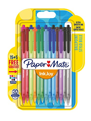 papermate-inkjoy-retractable-ballpoint-pen-with-10-mm-medium-tip-assorted-standard-colours-pack-of-2