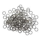 chiwanji - Paquete de 500 Anillas de Metal para conectar Cierres de Langosta, Abalorios, Enlaces y Otras Joyas, Plateado, 8 mm