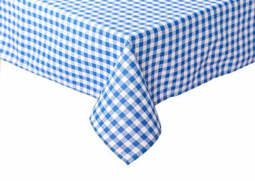 Landhaus Tischdecken in Karo blau 130 x 170 cm Baumwolle