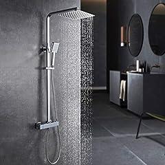 Duscharmatur mit Thermostat Duschsystem Regendusche Duschkopf Handbrause NEU WOW