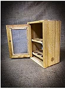 Stylish Wooden Egg Holder Cabinet Cupboard - Storage Rack