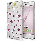 Huawei Nova Hülle Handyhülle von NICA, Slim Silikon Motiv Case Cover Crystal Schutzhülle Dünn Durchsichtig, Etui Handy-Tasche Backcover Transparent Bumper für Nova Phone, Designs:Stars