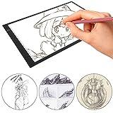 Mesa de Luz Dibujo A3, LED Tableta de Luz de Iluminación de la Caja de Alimentación Micro USB Ideal para Animacion Tatoo Dibuja