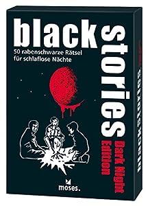 Moses. 109679Black Stories Dark Night Edition | 50acertijos. para Noches schlaflose | el Krimi Juego de Cartas