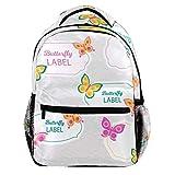 Schmetterling 038 Rucksack Full Print Multi-Pocket multifunktionale leichte große Kapazität Umhängetasche Travel Daypack Schultasche für Jungen Mädchen Kinder 29.4x20x40cm