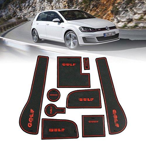 SUPAREE Anti-Rutsch-Auto Cup Mat mit schwer entflammbar, Haltbarkeit, Car Styling Interior Rubber Mat Zubehör (9pcs)