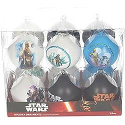 STAR WARS sdtsdt89743–Set palline di Natale, colore: bianco