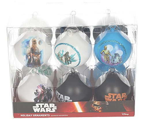 STAR WARS Set boules de Noël Blanc