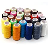 Accessotech 24 Colour Spools Finest Quality Sewing All Purpose 100% Pure Cotton Thread Reel by Raylinedo