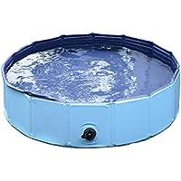 PawHut D01-004BU Badewanne für Hunde Wasserbecken, blau