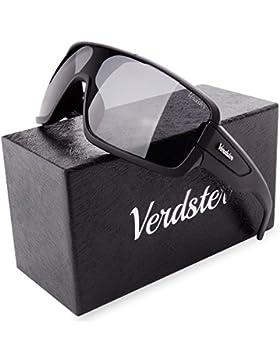 Verdster Gafas De Sol Gran Tamaño Hombres – Aptos para Conducir – Montura Envolvente Cómoda con Protección UV...