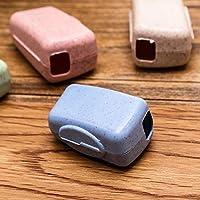 Branded SLB Works New 4pcs/Set Portable Travel Toothbrush Cover Wash Brush Cap Case Box BDAU