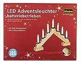 Idena Adventsbogen mit 7 LED Kerzenlichtern, natur, ca. 30 x 40 cm, batteriebetrieben, 8582092
