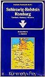 Schleswig-Holstein, Hamburg: Strassenkarte 1:250000. Flensburg - Hamburg - Hannover Blatt 1 (Kümmerly+Frey Strassenkarten, Band 1) - Collectif