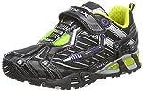Geox JR LIGHT ECLIPSE A, Jungen Sneakers, Schwarz (C0802BLACK/LIME), 24 EU